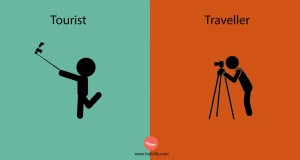 What type of person are you - a tourist or a traveler?