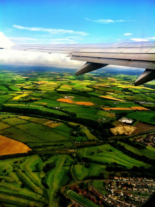 Impressive  window seat pictures of the green fields that will blow your mind