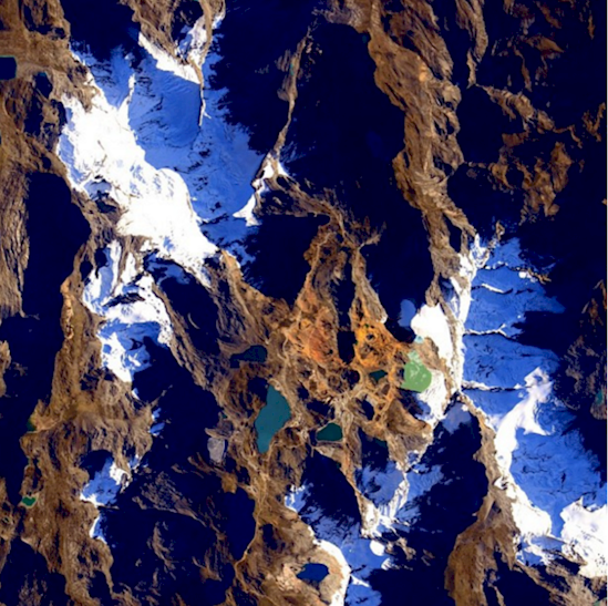 Stunning photos from the International Space Station-the Andes in Peru.