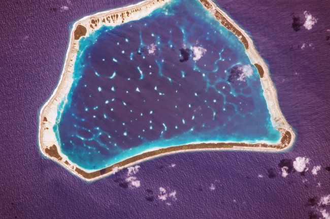 Stunning photos from the International Space Station-Manihiki Atoll-Cook Islands.