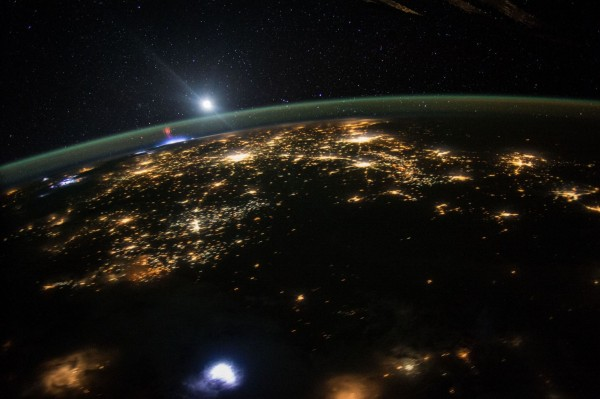 Stunning photos from the International Space Station. Mexico City at night.