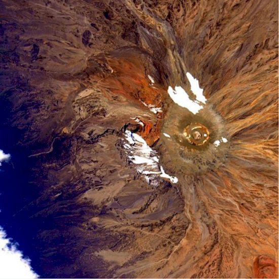 Stunning photos from the International Space Station-Mt. Kilimanjaro.