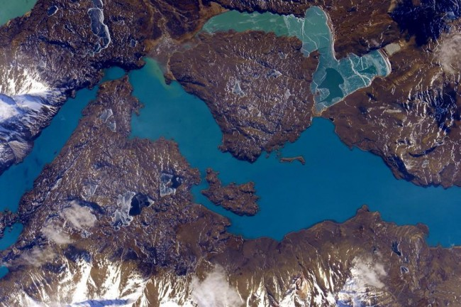 Stunning photos taken from the International Space Station-Patagonia
