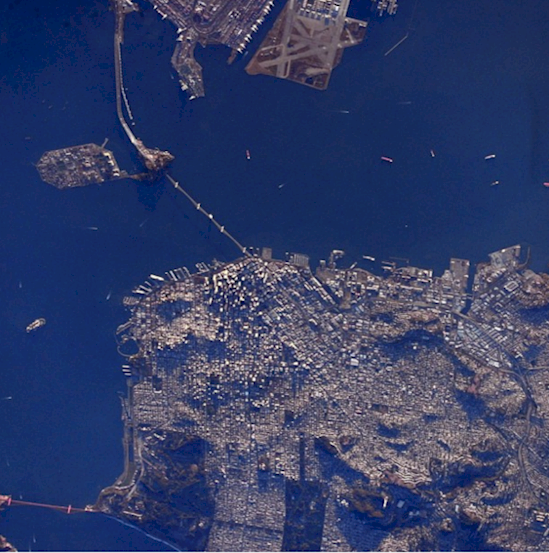 Stunning photos from the International Space Station-San Francisco.