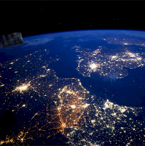 Stunning photos from the International Space Station. France and England