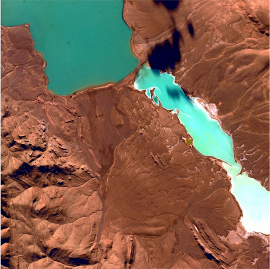 Stunning photos from the International Space Station. Lake Ha' Opo in China.