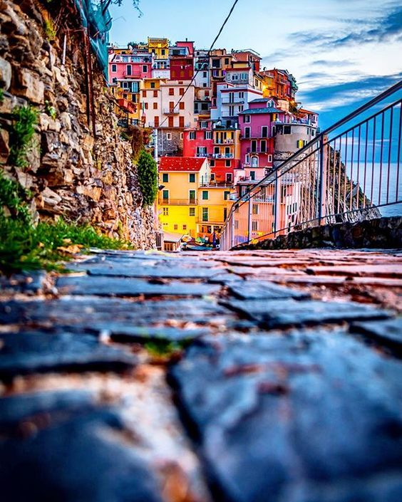 The Cinque Terre in Italy is one of the most beautiful Valentine's Day destinations.