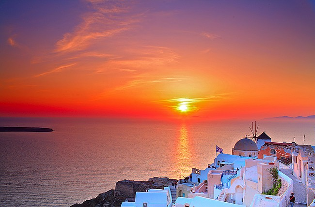 Santorini in Greece is one of the most romantic Valentine's Day destinations in Europe.