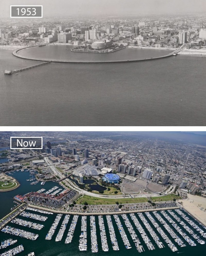 Long Beach in California looks totally different now an in 1953.
