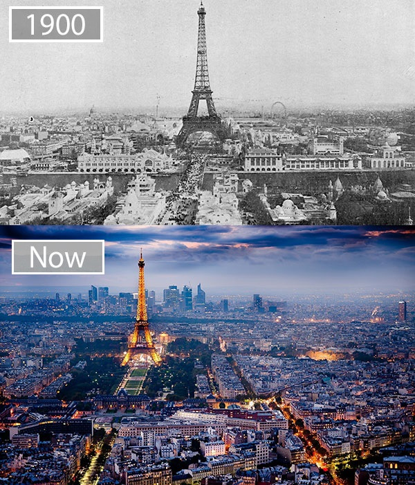 Paris changed drastically over a period of 100 years.