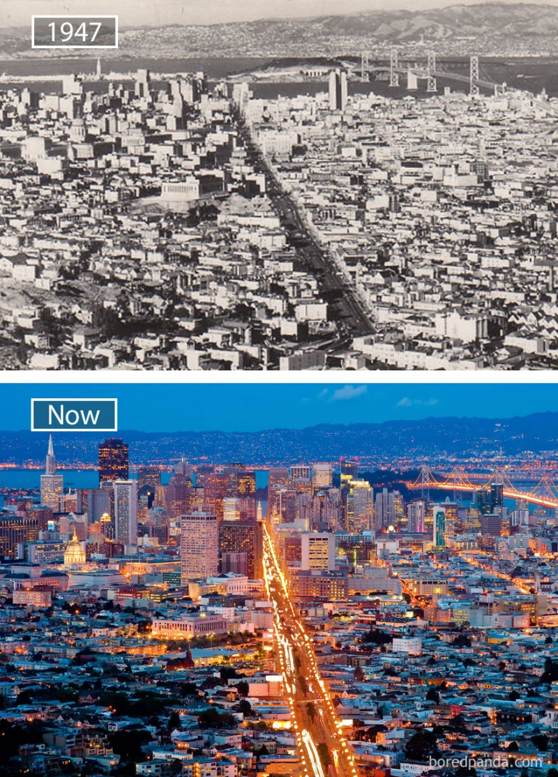San Francisco changed drastically over a period of 60 years.