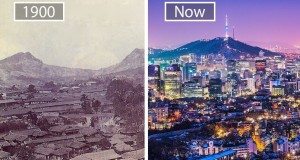 before-and-after-pics-of-famous-cities-changed-over-time-Seoul-South-Korea