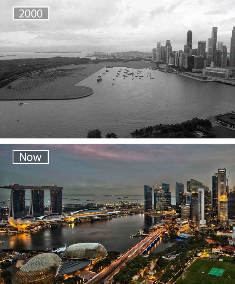 Singapore just like many other world metropolises change a lot over time.
