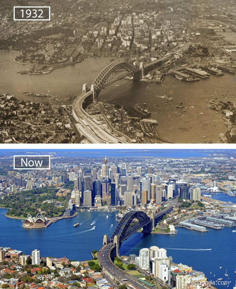 Sydney change a lot over time.
