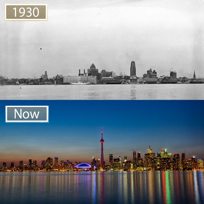 Toronto, just like many world metropolises changed a lot during last 100 years.