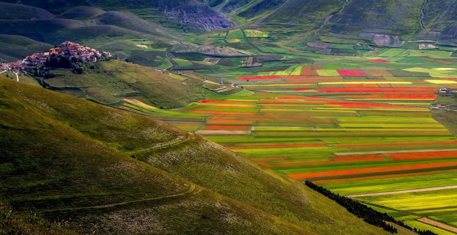 Castelluccio is considered to be one of the most gorgeously picturesque villages in Italy.