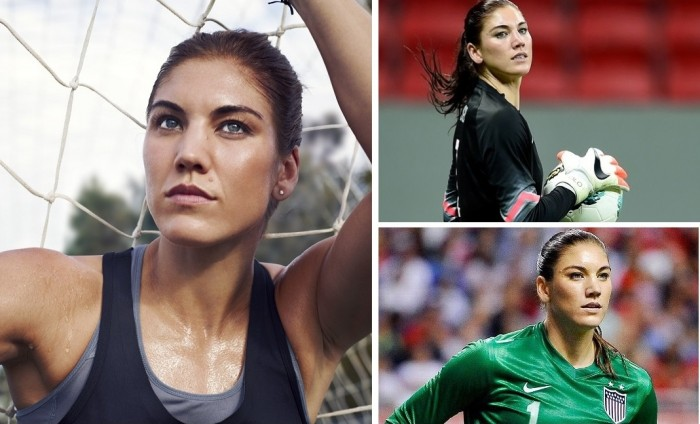 Hope Solo from the USA is one of the hottest female athletes in Rio Olympics 2016.
