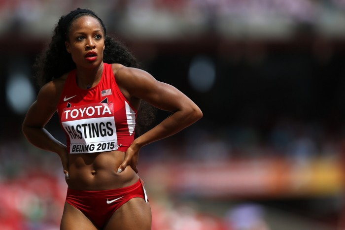 Natasha Hastings from USA is one of the hottest female and male athletes in Rio Olympics 2016.