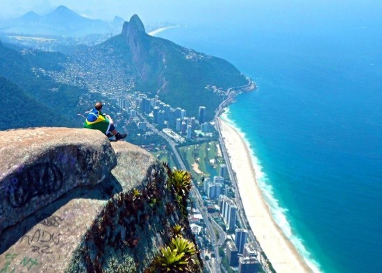 One of the most scenic views of Rio de Janeiro is the view of Copacabana beach.