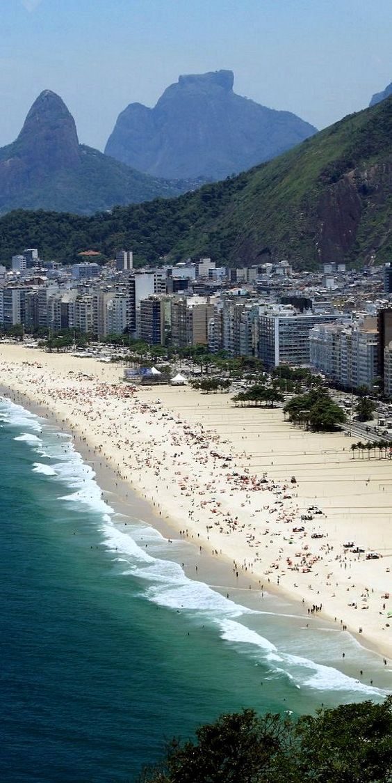 Copacabana beach has one of the most scenic views of Rio de Janeiro