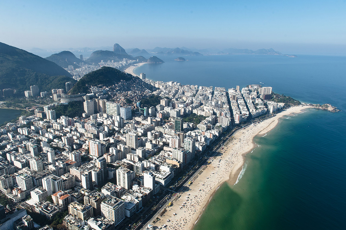 Ipanema beach has one of the most scenic views of Rio de Janeiro