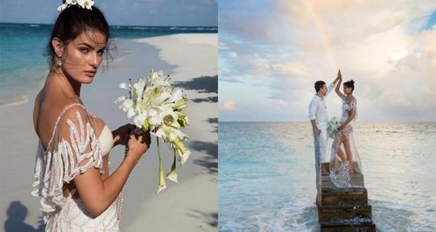 Isabeli Fontana in a bikini wedding dress is one of the most daring wedding looks ever seen.