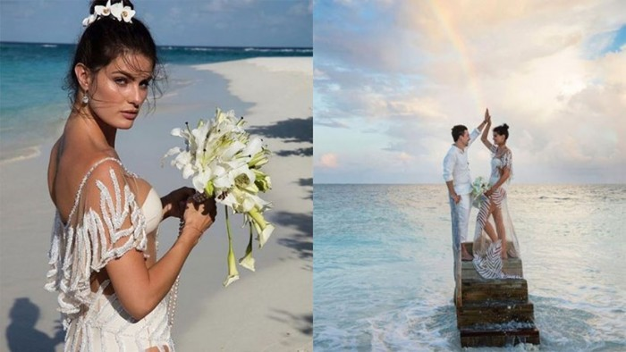 Isabeli Fontana in a bikini wedding dress is one of the most daring wedding looks ever seen.