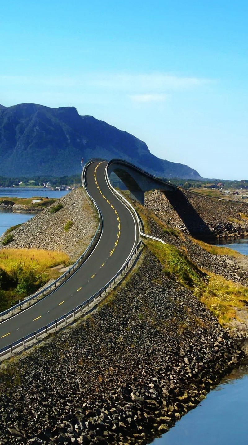 Atlantic road in Norway is one of the roads you need to drive in your lifetime.