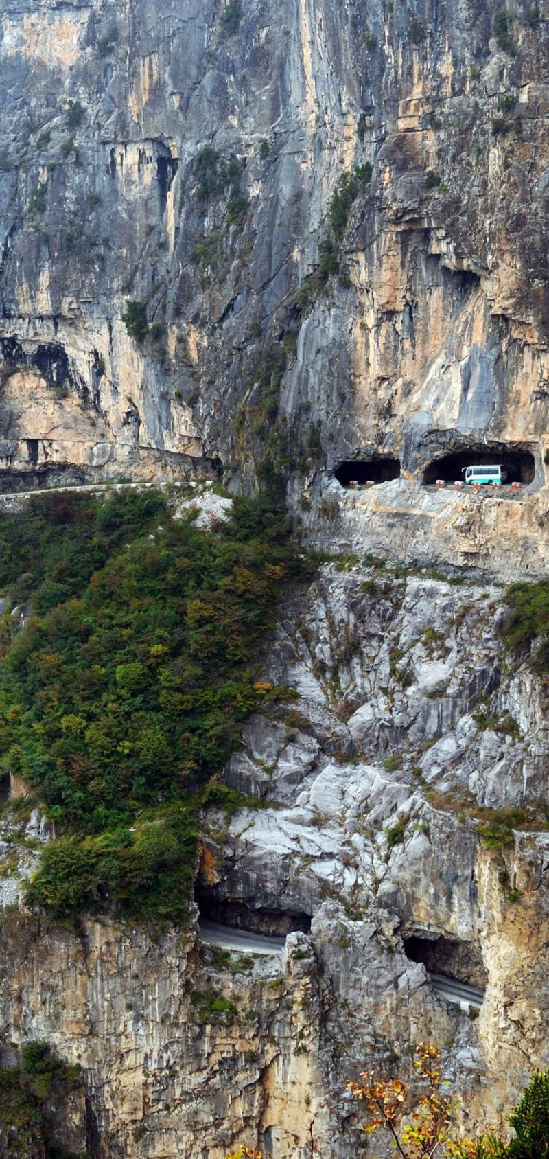 Guoliang Tunnel Road in China is one of the roads you need to drive in your lifetime.