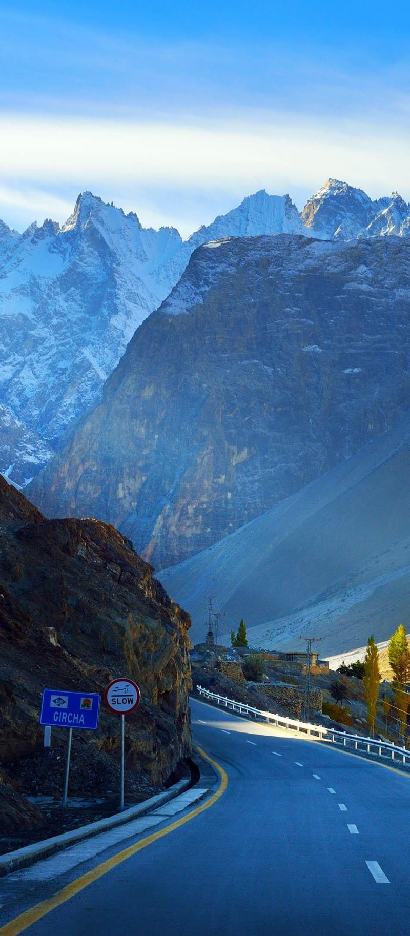 Karakorum highway in Pakistan is one of the roads you need to drive in your lifetime.
