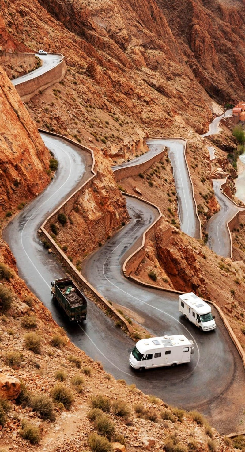 Tizi n'Tichka pass in Morocco is one of the roads you need to drive in your lifetime.