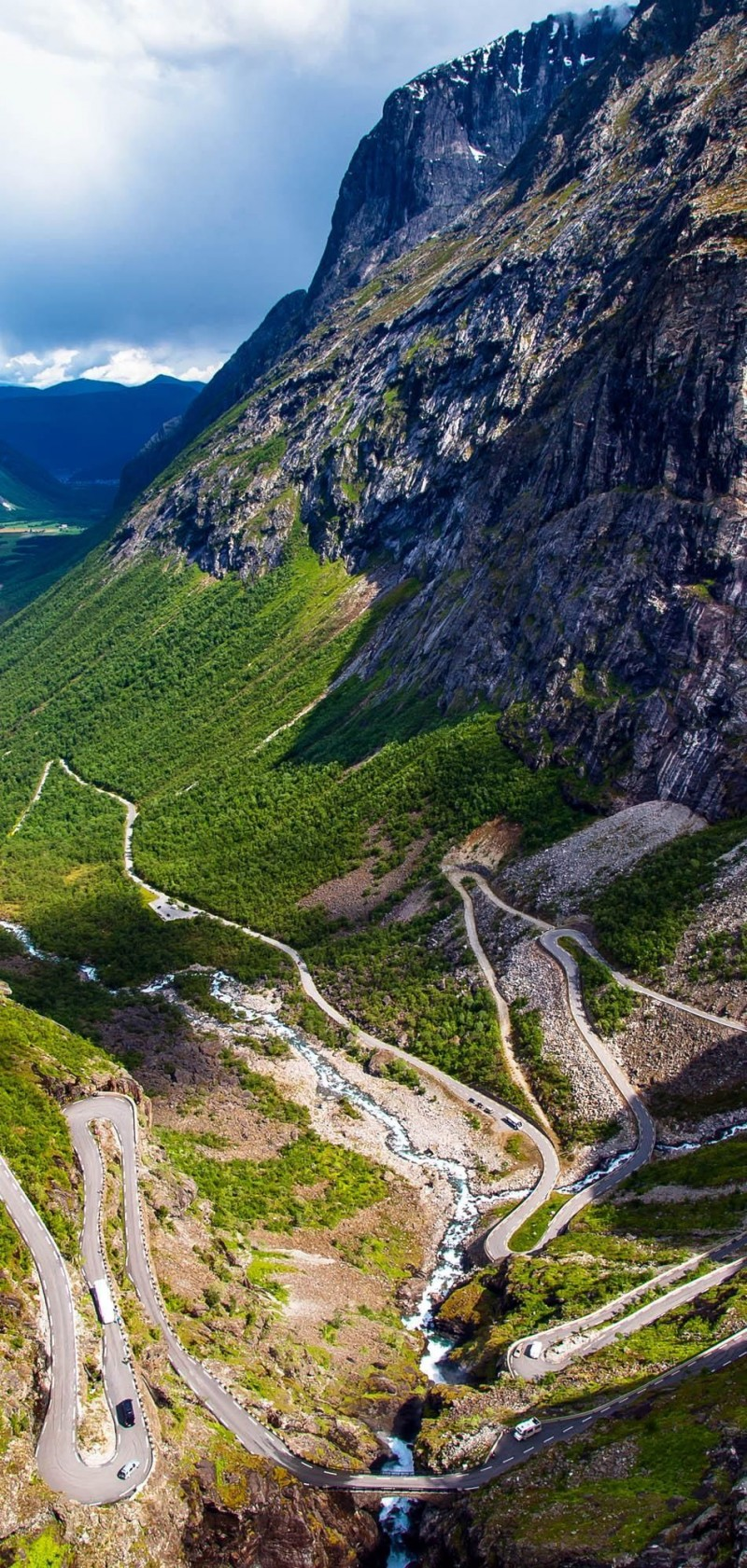 Trollstigen road in the Norwegian mountains is one of the roads you need to drive in your lifetime.