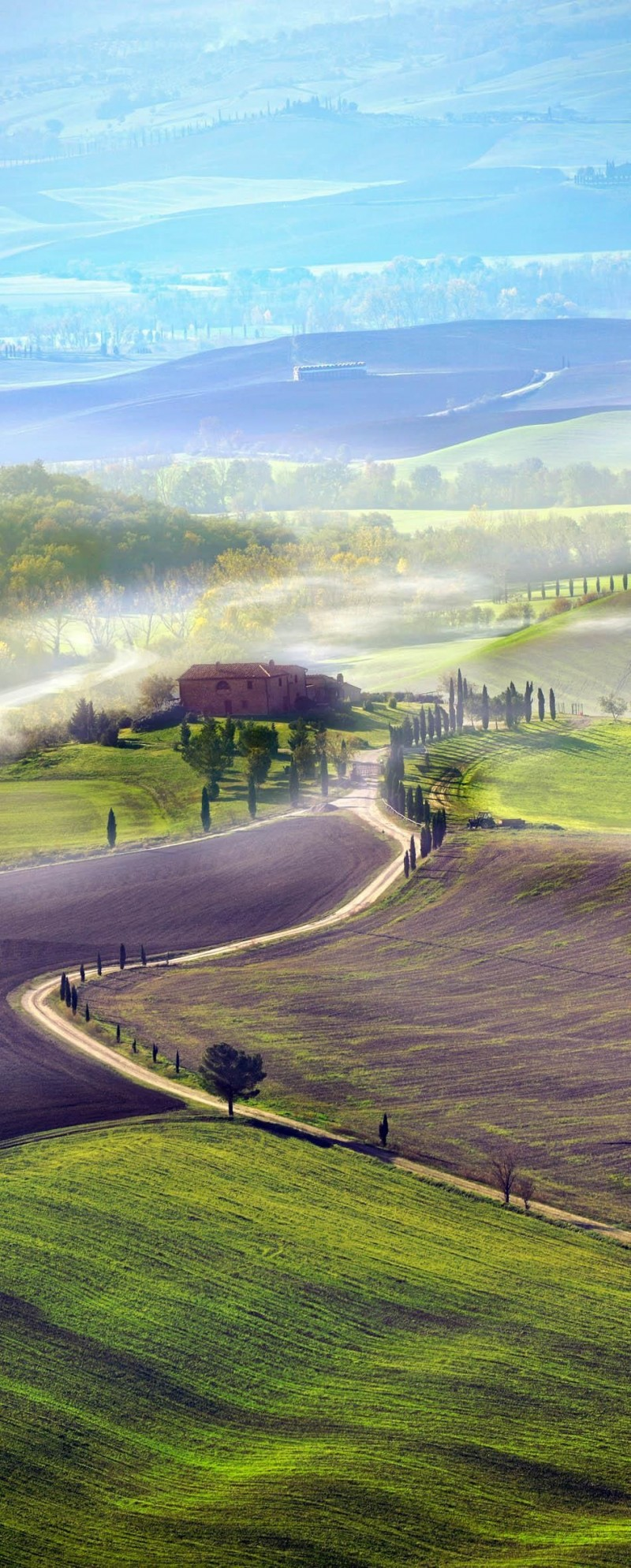 Countryside road in Tuscany is one of the roads you need to drive in your lifetime.