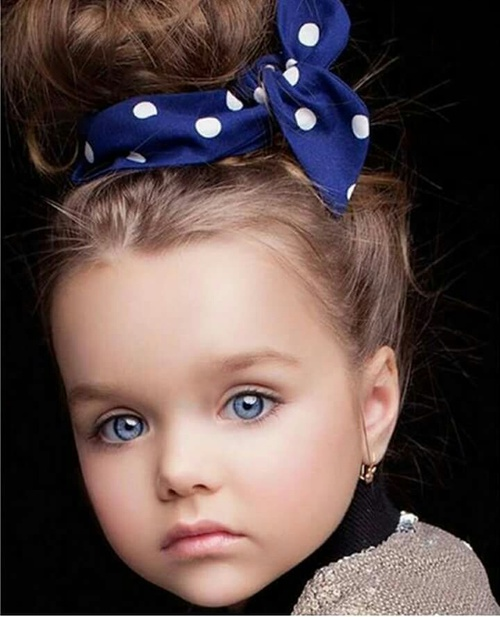Beautiful Anastasiya Knyazeva is a famous child model from Russia.