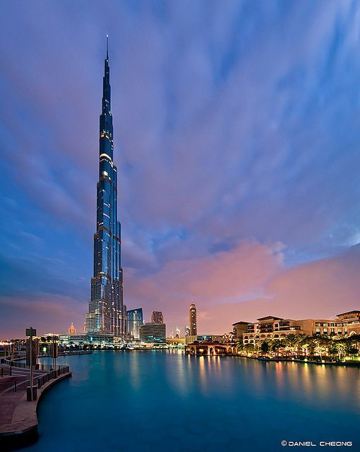 Burj Khalifa in Dubai provides one of the ten best views in the world.