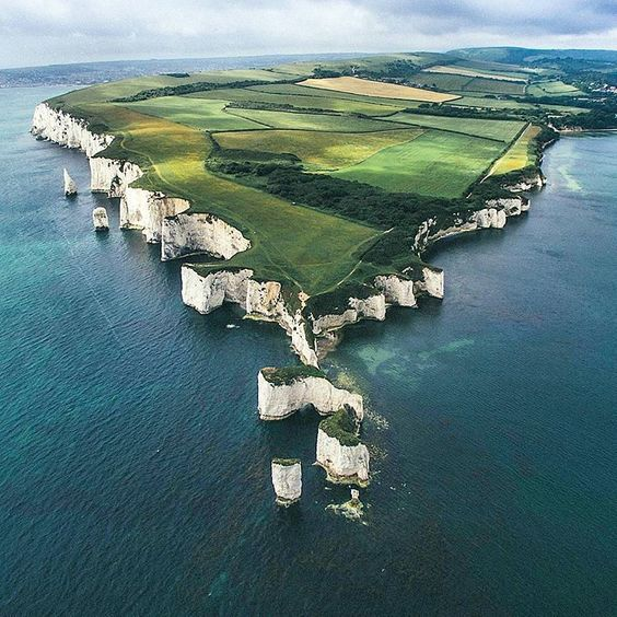 Old Harry Rocks in Dorset  has one of the ten best views in the world.