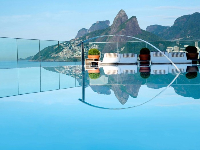 Fasano Hotel in Rio is one of the world's  best hotels with rooftop pools