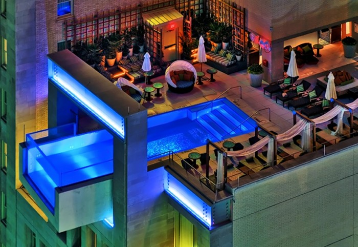 Hotel Joule in Dallas is one of the best hotels with rooftop pools in the world.