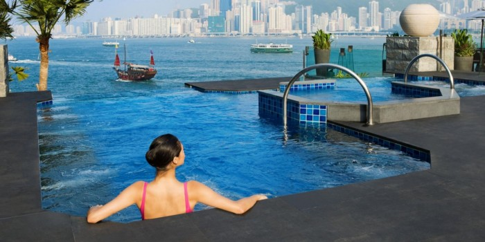 InterContinental hotel in Hong Kong is one of the world's best hotels with rooftop pools