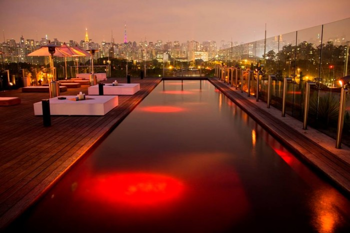 One the world's best hotels with rooftop pools is hotel Unique in Sao Paulo.