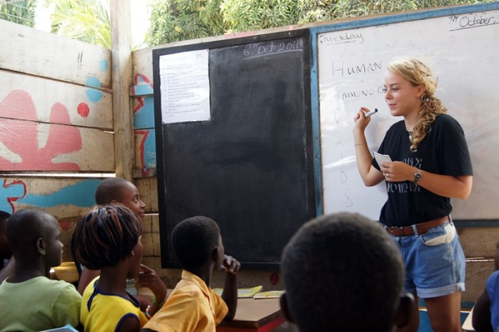 One of the 10 best travel jobs in the world is to work as an English teacher.