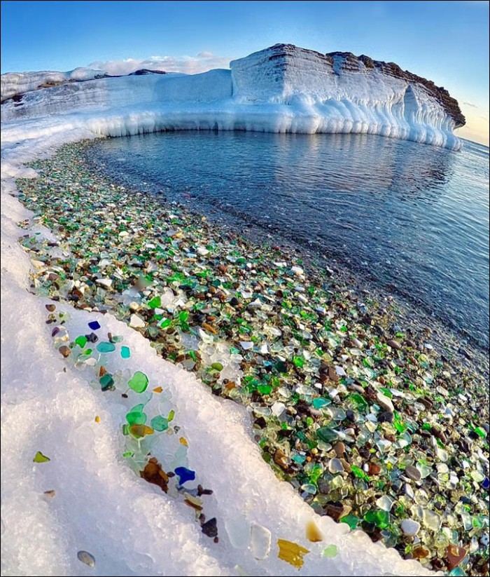 The Glass Beach in Ussuri Bay is one of the most popular tourist attractions in Russia.