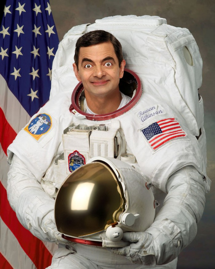 These hilarious photoshopped pictures of Mr. Bean will make your day. Here is Mr. Bean as an astronaut.