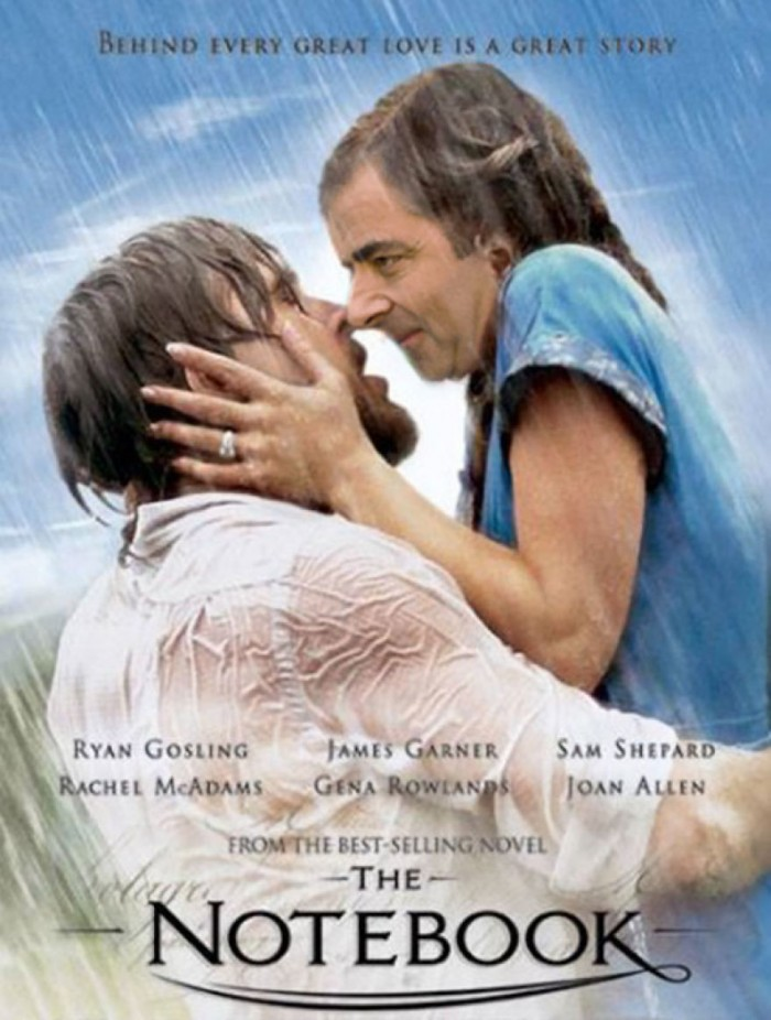 These hilarious photoshopped pictures of Mr. Bean will make your day. Here is Mr. Bean starring in the Notebook movie.