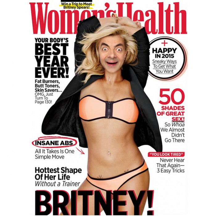 These hilarious photoshopped pictures of Mr. Bean will make your day. Here is Mr. Bean  on the cover of Women's Health magazine.