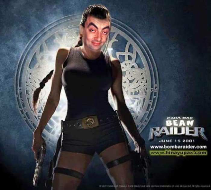 These hilarious photoshopped pictures of Mr. Bean will make your day. Here is Mr. Bean starring in the Tomb Raider movie.