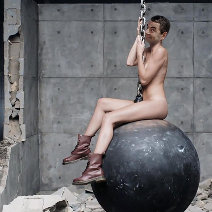 These hilarious photoshopped pictures of Mr. Bean will make your day. Here is Mr. Bean as Miley Cyrus.