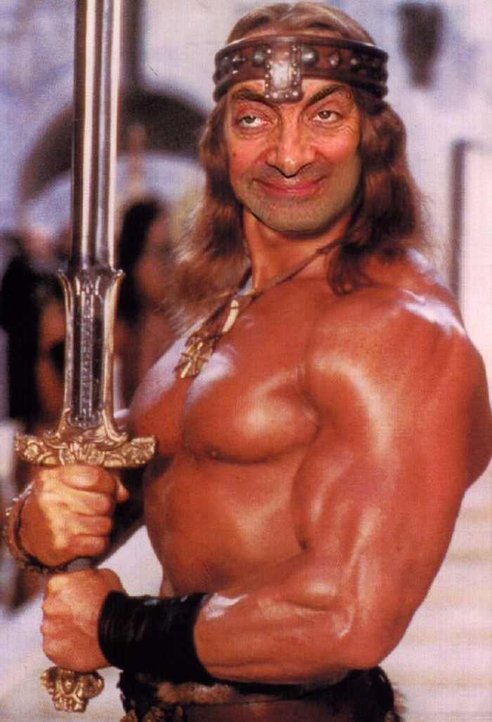 These hilarious photoshopped pictures of Mr. Bean will make your day. Here is Mr. Bean as Conan the Barbarian.