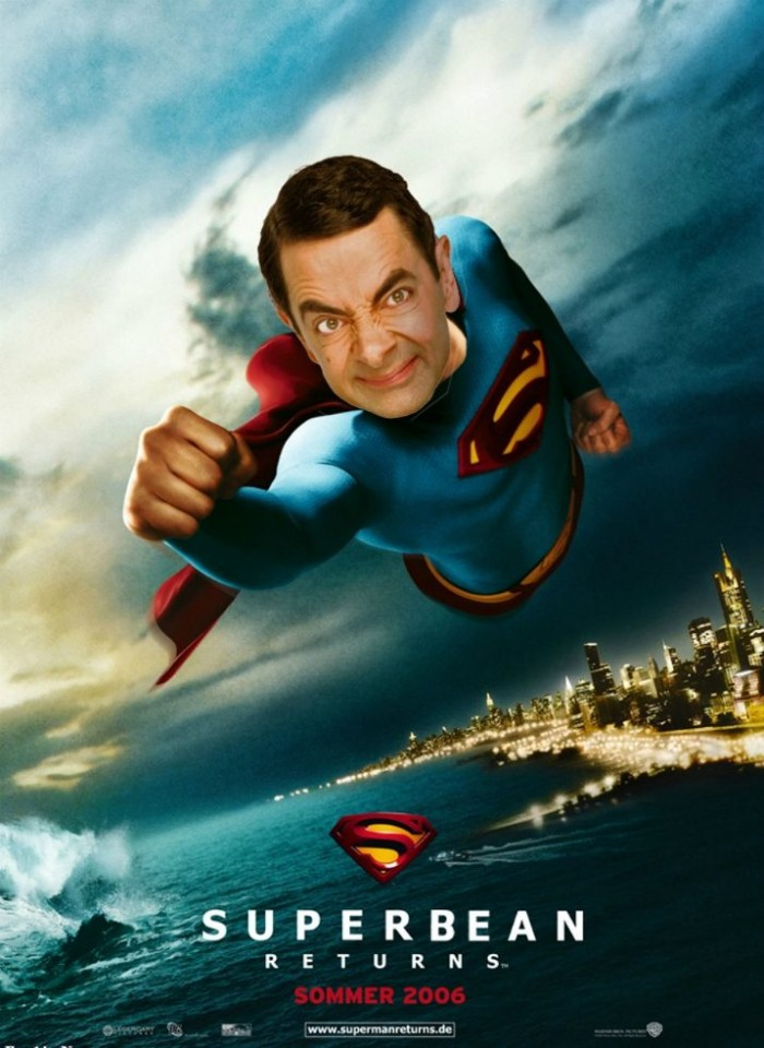 These hilarious photoshopped pictures of Mr. Bean will make your day. Here is Mr. Bean as Superman.