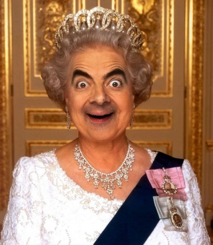 These hilarious photoshopped pictures of Mr. Bean will make your day. Here is Mr. Bean a the Queen Elizabeth.